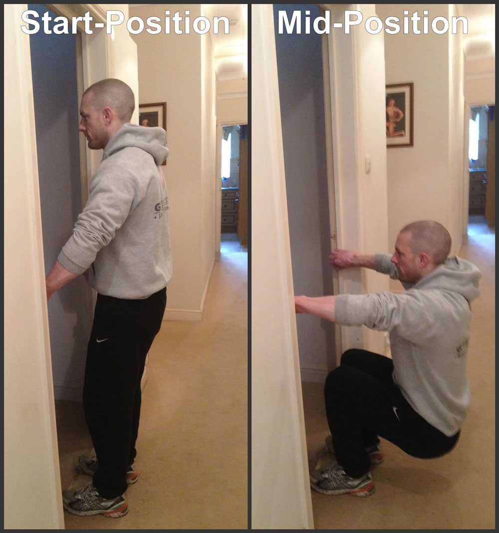 Leg Blaster Squats at home.