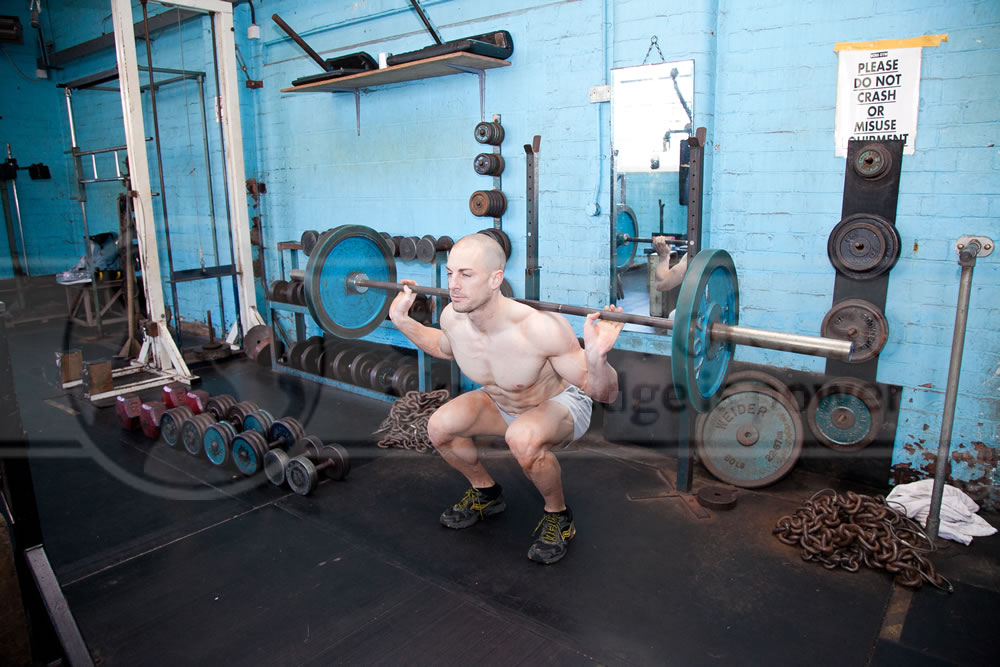 Natural Bodybuilder Matt performing Barbell Squats