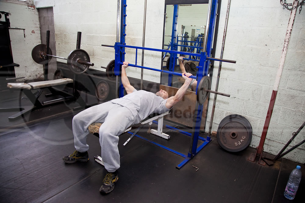 Smith Machine Flat Bench Press (Wide-Grip)
