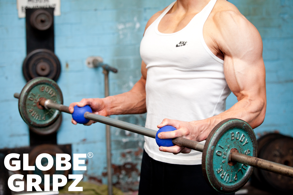 Barbell Hammer Curls (with Globe Gripz™)