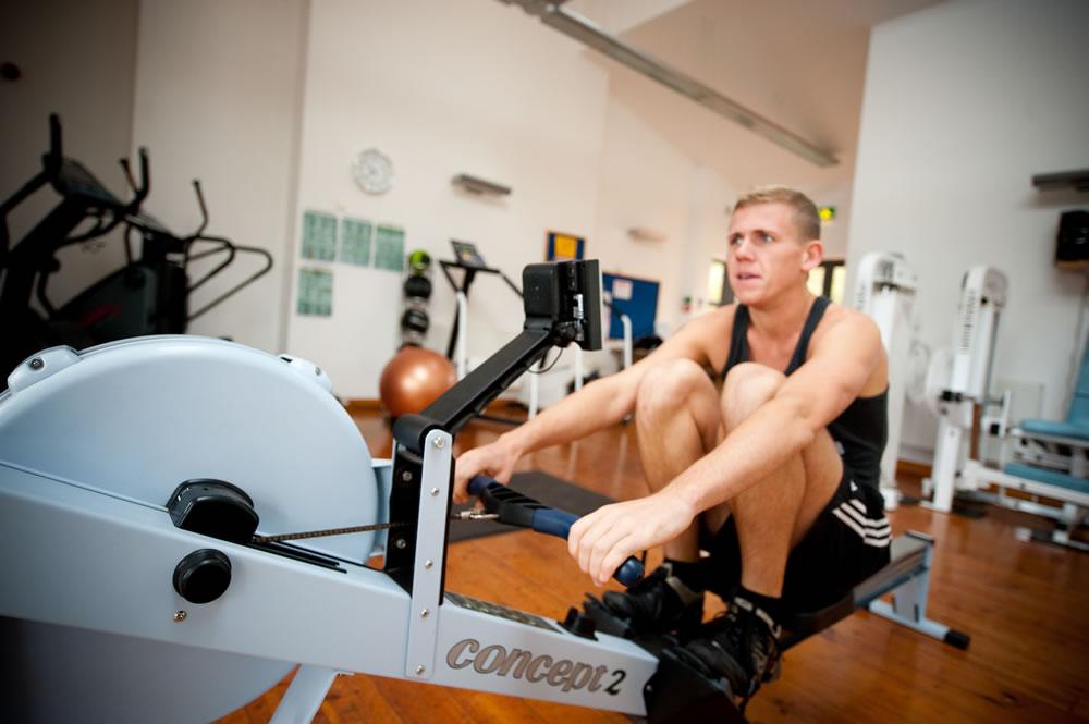 combination rowing machine and bike