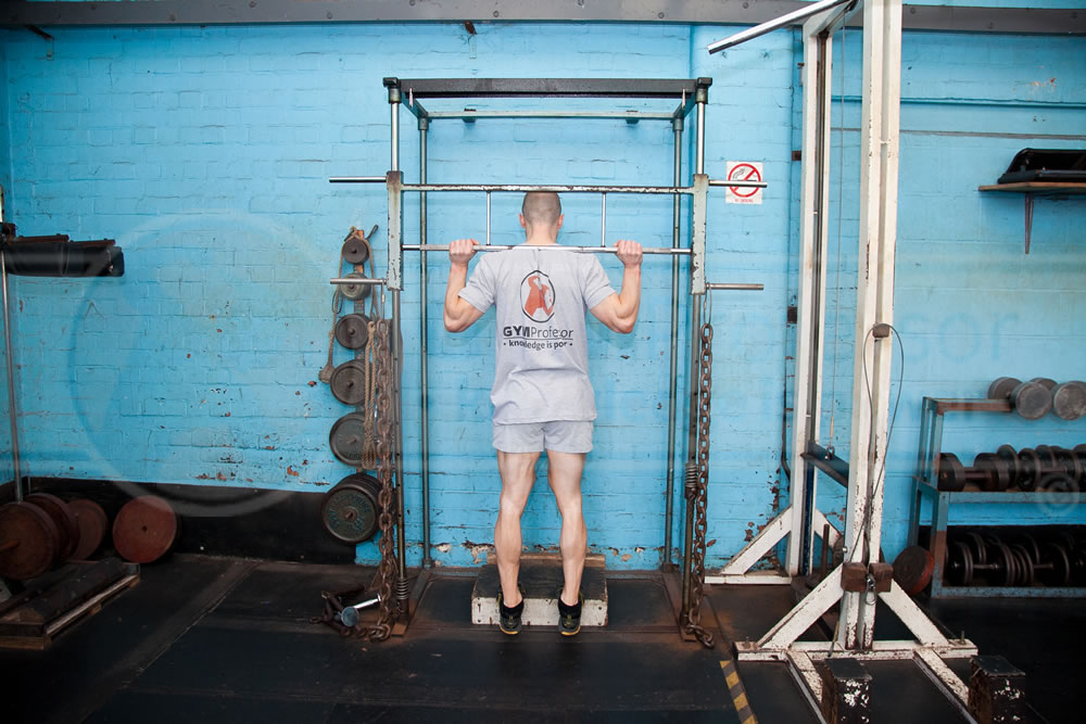 Smith Machine Standing Calf Raises