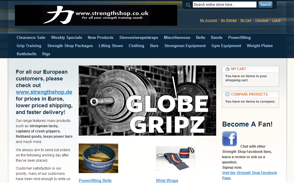 Globe Gripz available at Strength Shop UK