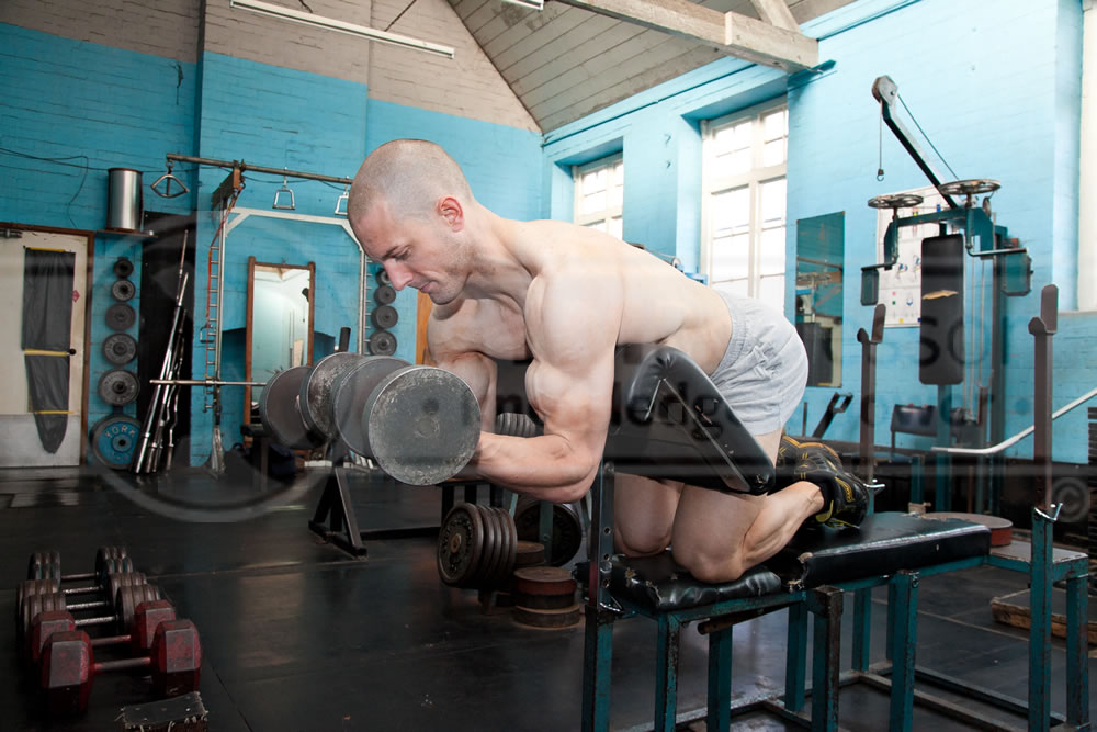 Dumbbell Supination Scott Curls
